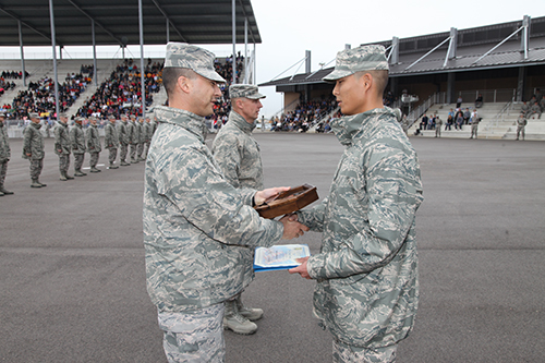 BMT Graduation - Airman's Run, Coin and Retreat Ceremony